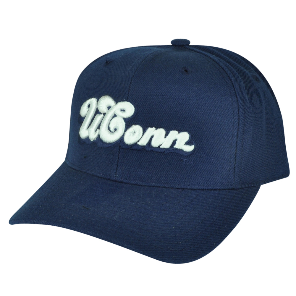 NCAA American Needle UConn Huskies Connecticut Fitted Size 7 5/8 Navy Hat Cap