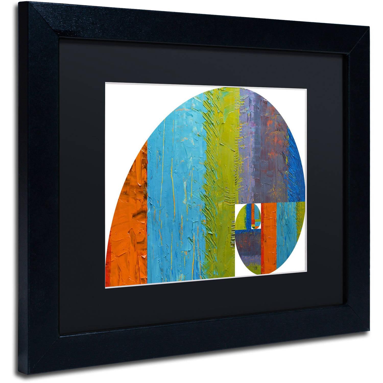 Trademark Fine Art Fibonacci Spiral Canvas Art By Michelle Calkins Black Matte Black Frame Walmart Com Walmart Com