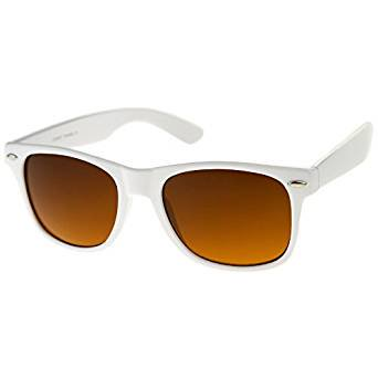 Cp White Blue Blocking Driving Horn Rimmed Sunglasses Amber Tinted (Amber Tinted Sunglasses)