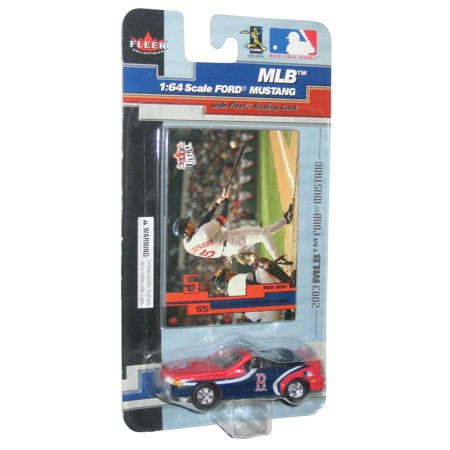 Ford Baseball Cards (MLB Baseball Fleer 1:64 Ford Mustang (2003) Nomar Barciaparra Toy Car)