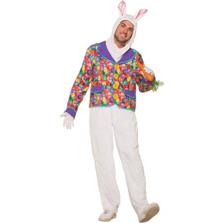 Easter Bunny Rabbit Costume Hood Pants With Jelly Bean Print