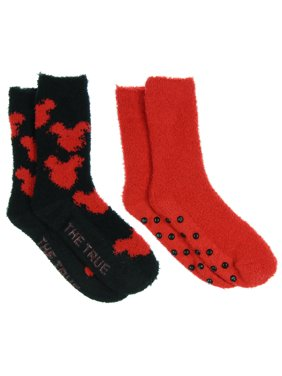 bfcce899b5d Product Image Disney Mickey Mouse Seeing Red Super Soft 2-Pack Crew Socks  With No-Slip