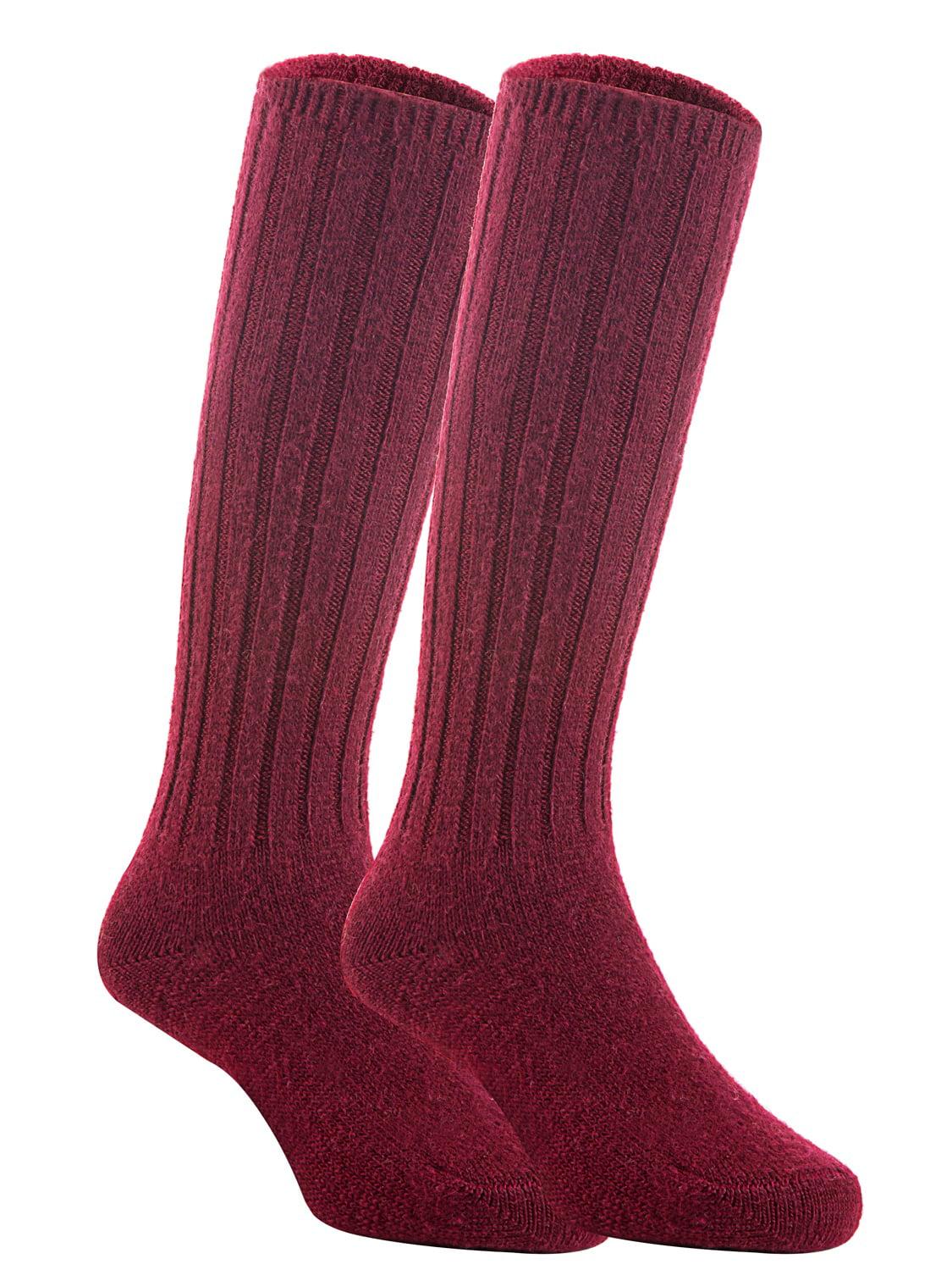Lian LifeStyle Unisex Baby Children 3 Pairs Knee High Wool Blend Boot Socks Size 2-4Y  (Wine)
