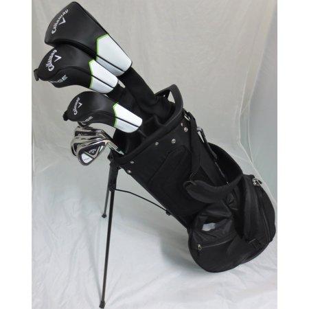 Mens Callaway Complete Golf Set Driver, Fairway Wood, Hybrid, Irons, Putter, Stand Bag Stiff Flex …