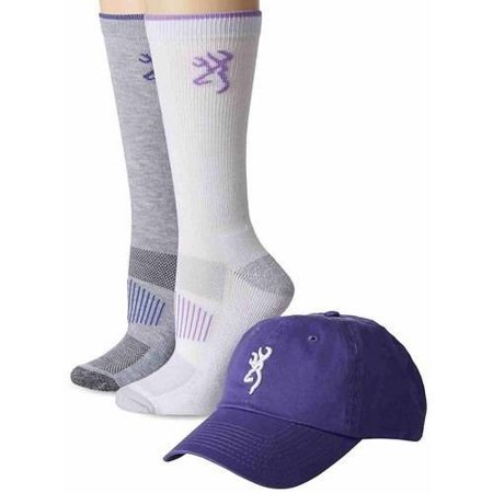 Browning Hosiery Women's Hat and 2 Pair Socks Pack Combo
