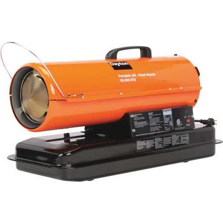 DAYTON Oil Fired Torpedo Heater,50,000 BtuH 3VE48