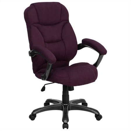 Scranton & Co High Back Microfiber Upholstered Office Chair in