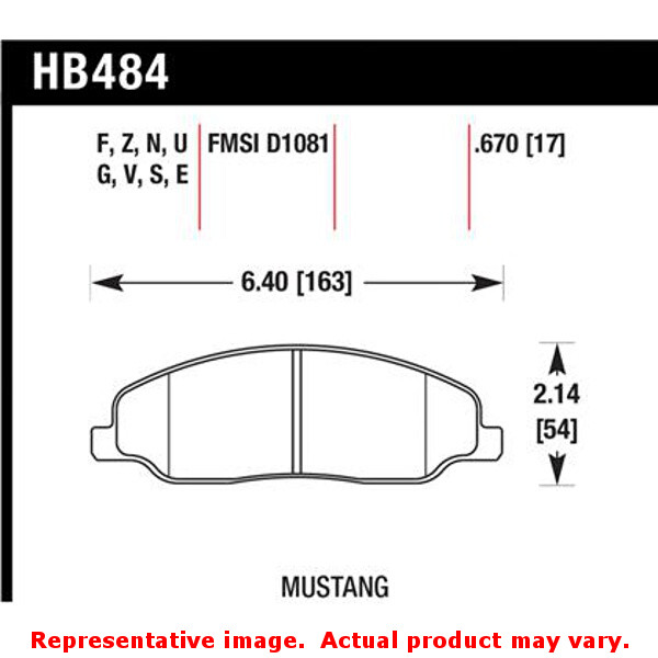 Hawk 05-10 Ford Mustang GT & V6 / 07-08 Shelby GT HPS Street Front Brake Pads