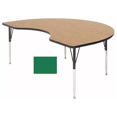 Correll Shape High Pressure Activity Table Standard Green