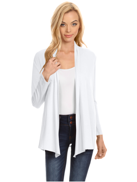 ed8a259a9a1 Product Image Womens Open Drape Cardigan Reg and Plus Size Cardigan Sweater  Long Sleeves - USA