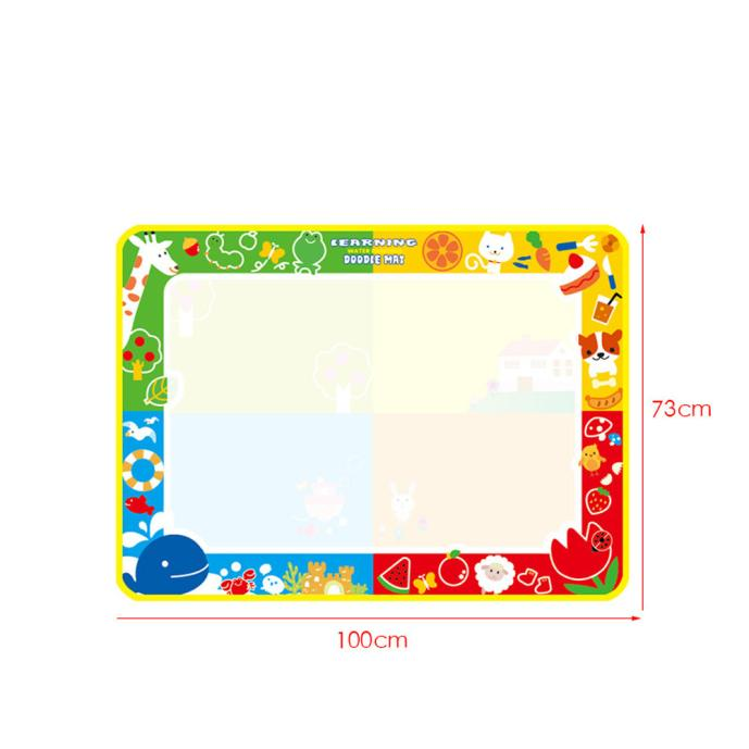 New Amusing 100X73cm Water Drawing Painting Writing Mat Board Magic Pen Doodle New Toy