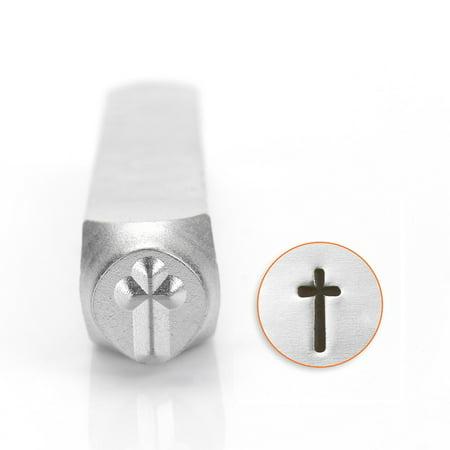 ImpressArt Metal Punch Stamp, Cross 6mm (1/4 Inch), 1 Piece, Steel