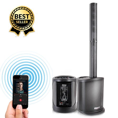 PYLE PADHUSB8 - Pro Audio Digital Speaker Tower Amplifier - Surround Sound Bluetooth Speaker, Full Range Stereo (400 Watt) Body Full Volume Amplifier