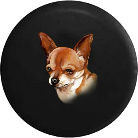Chihuahua Dog Lover Adopt Rescue Spare Tire Cover for Jeep RV ()