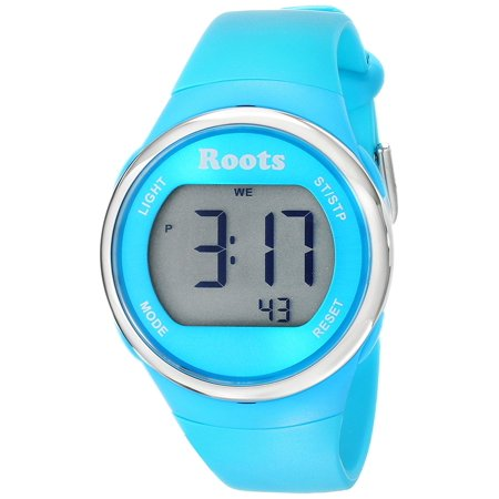 Cayley Womens Resin Strap Digital Chronograph Watch Backlight Alarm Aqua