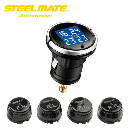 Steelmate EBAT ET-710AE 4-sensor Wireless TPMS LCD Tire Pressure Monitor System - image 5 de 7