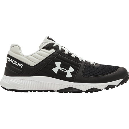 Under Armour Men's Yard Baseball Turf Shoes, Black/White, Medium