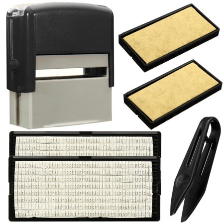 6PCS Set DIY Personalised Self-Inking Rubber Stamp Kit Customized Business Name Address-3