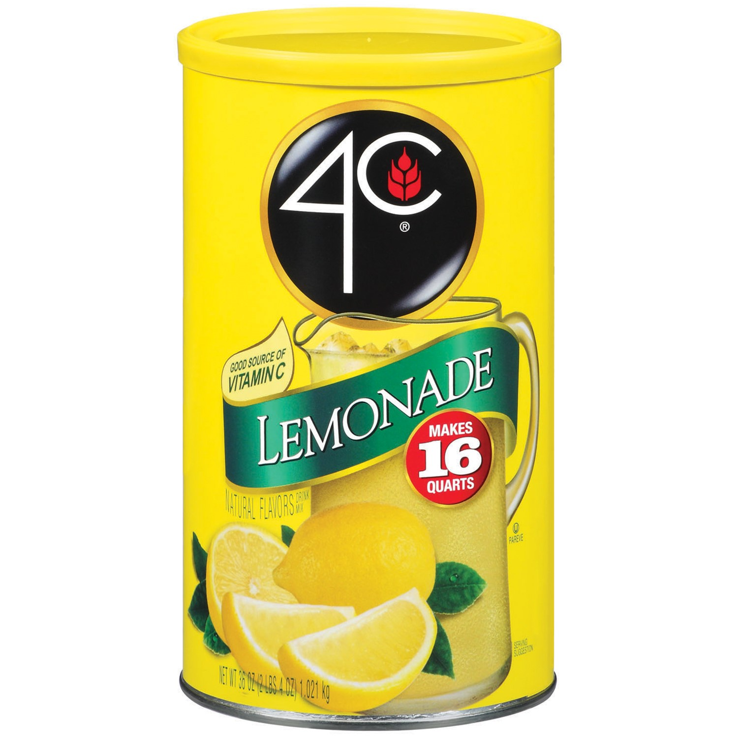 4C Drink Mix, Lemonade, 36 Oz, 1 Count