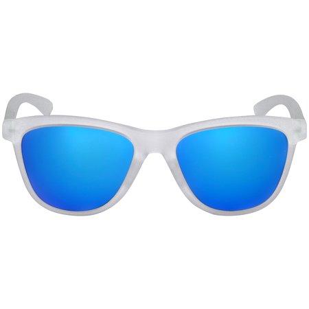 Oakley Plastic Frame Sapphire Iridium Lens Ladies Sunglasses