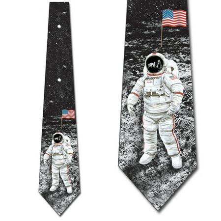 L Space Tie (Astronaut Ties Moon Landing Necktie Space Tie )
