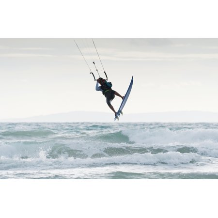 Wakeboarding Dos Mares Beach Tarifa Spain Canvas Art - Ben Welsh Design Pics (19 x 12)