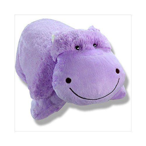 "Authentic Pillow Pets Huggable Hippo Large 18"" Plush Toy Gift"