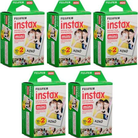 Fujifilm Instax Mini Film (5 Twin Packs, 100 Total Pictures) (1600 Film)