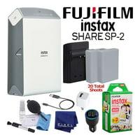 FujifilmInstax Share Smartphone Printer SP-2 (Silver) + 20-Films Basic Kit