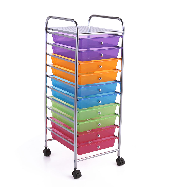 Storage Basket Plastic Crate 4 Gradient Slots Box School Office Tidy Organizer