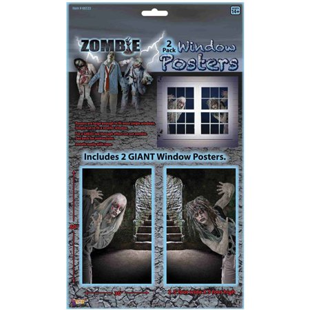 Zombie Window Clings Halloween Decoration