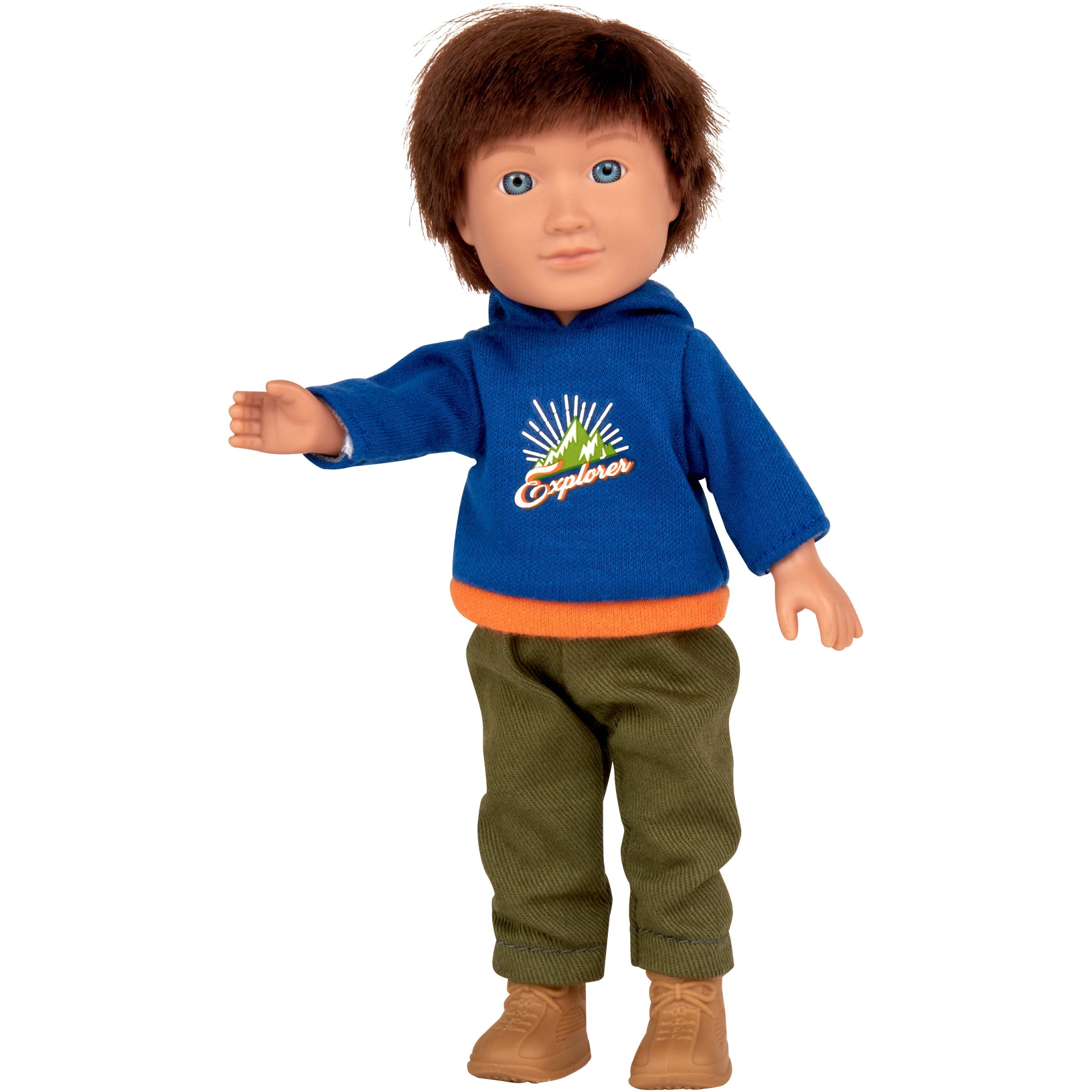 "My Life As 7"" Mini Poseable Outdoorsy Boy Doll, Brunette Hair"