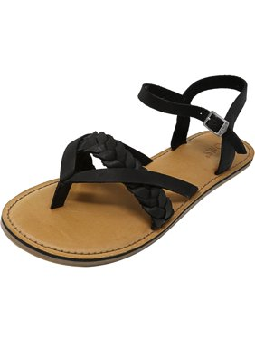 fc618b7a7934 Product Image Toms Women s Lexie Leather Black Sandal - 7M