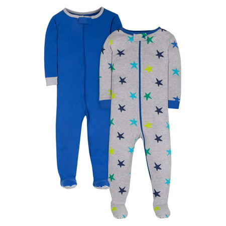 Pure Organic True Brights Footed Stretchie Pajamas, Sleepwear (Baby Boys & Toddler Boys)](Boys Christmas Jammies)