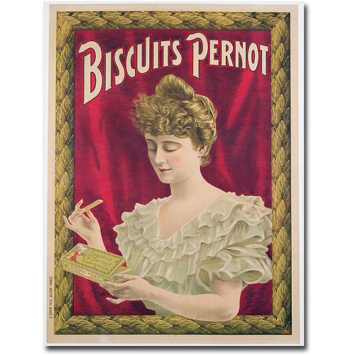 "Trademark Art ""Pernot Biscuits, 1902"" Canvas Wall Art"
