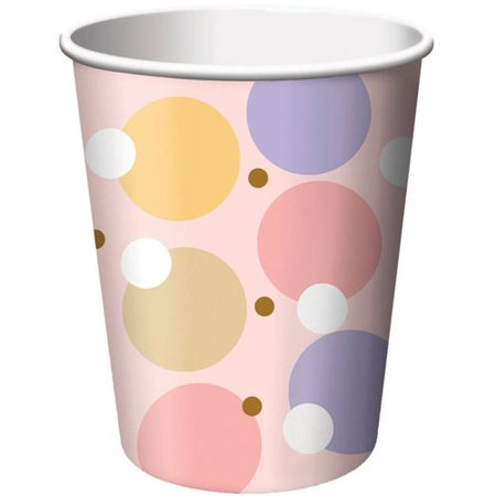 Tiny Toms Pink (Baby Shower 'Tiny Toes Pink' 9oz Paper Cups)