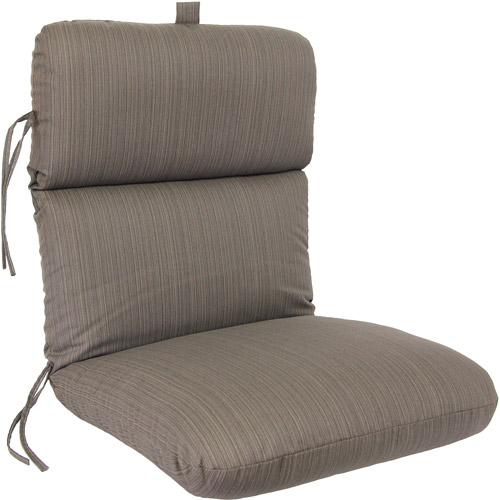Jordan Manufacturing Deluxe Chair Cushion, Greenwich Dark Chocolate