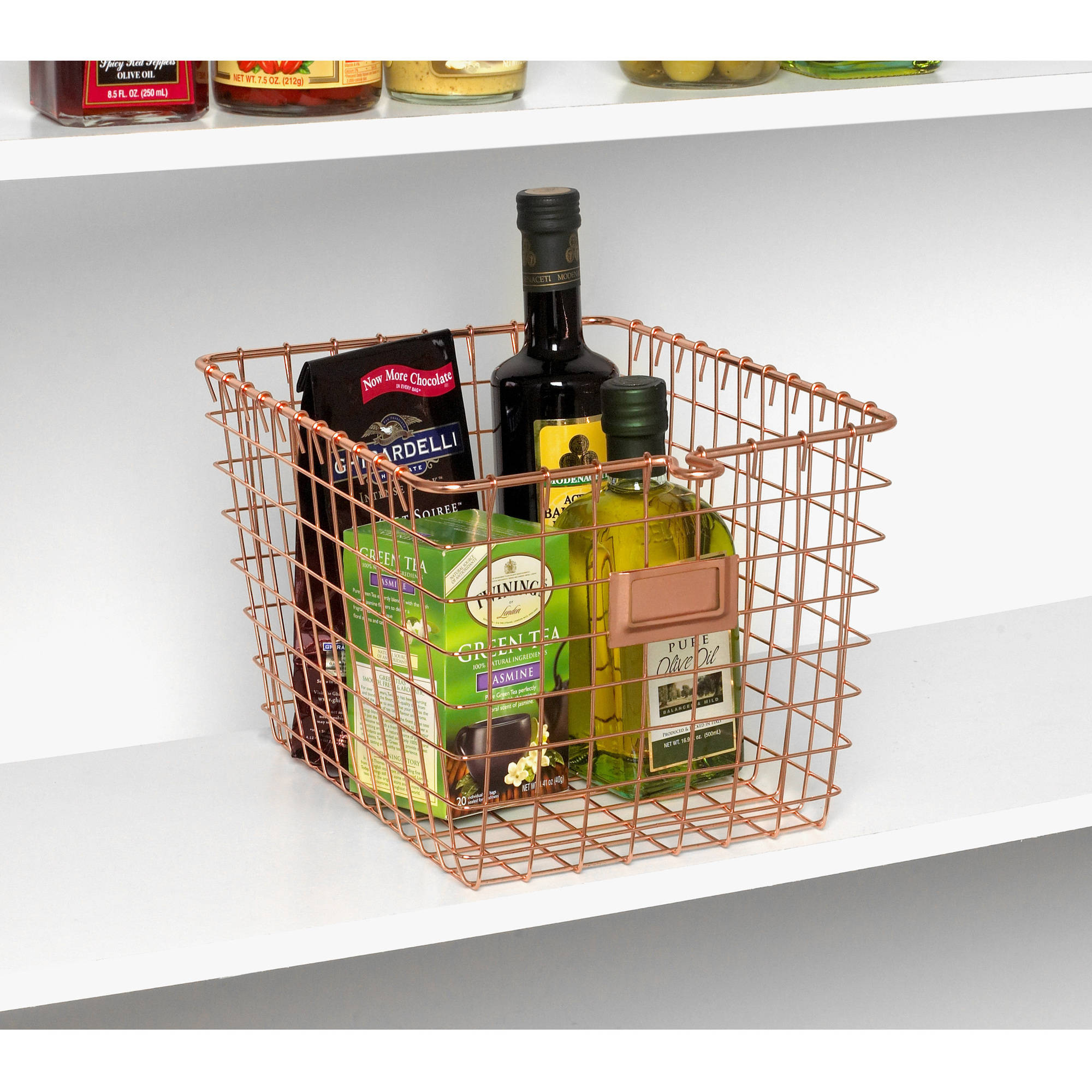 Spectrum Small Storage Basket, Copper