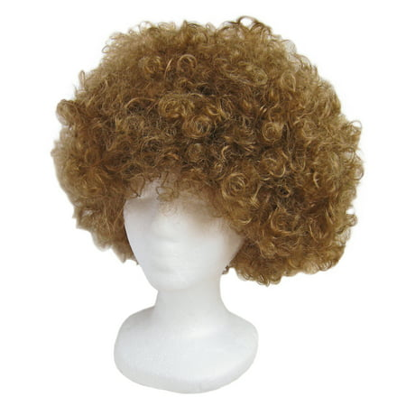 SeasonsTrading Economy Brown Afro Wig - Halloween Costume Party Wig](Balding Wig Halloween)