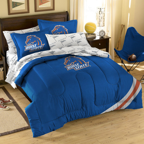 "Boise State Broncos NCAA Embroidered Comforter Set (Twin/Full) (64"" x 86"")"
