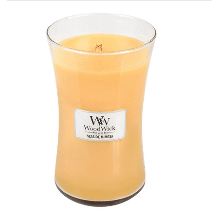 Virginia Woodwick Medium Crackling Candle - Seaside Mimosa