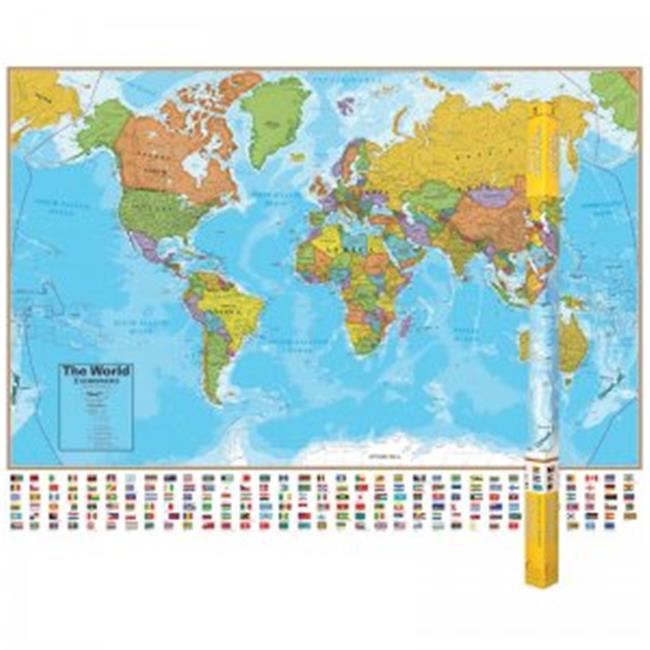 (2 Ea) Hemispheres Laminated Map - image 1 de 1