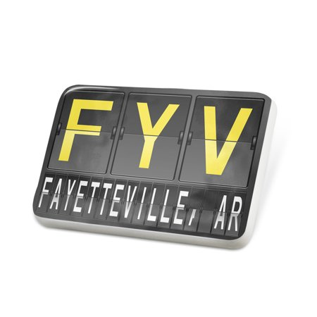 Porcelein Pin FYV Airport Code for Fayetteville, AR Lapel Badge – NEONBLOND