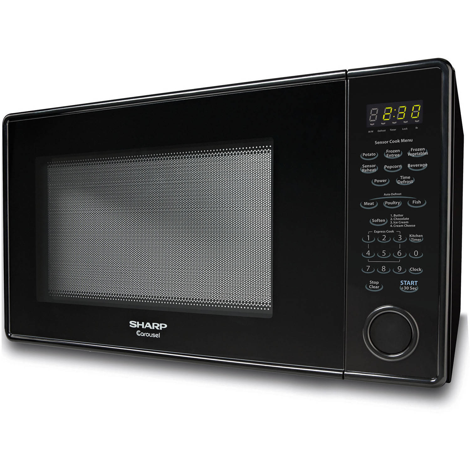 Sharp R551zs Carousel Countertop Microwave Oven 1 8 Cu Ft 1100w Stainless Steel