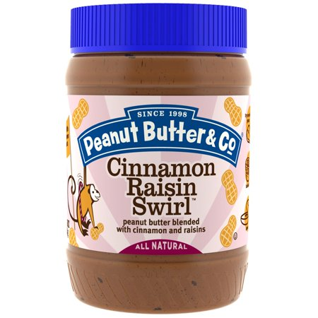 - Peanut Butter & Co., Cinnamon Raisin Swirl, Peanut Butter Blended with Cinnamon and Raisins, 16 oz (pack of 1)