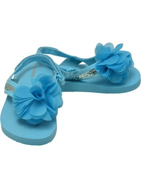 0e69a72d83643 Product Image L`Amour Little Girls Blue Sequin Eva Foam Sandals