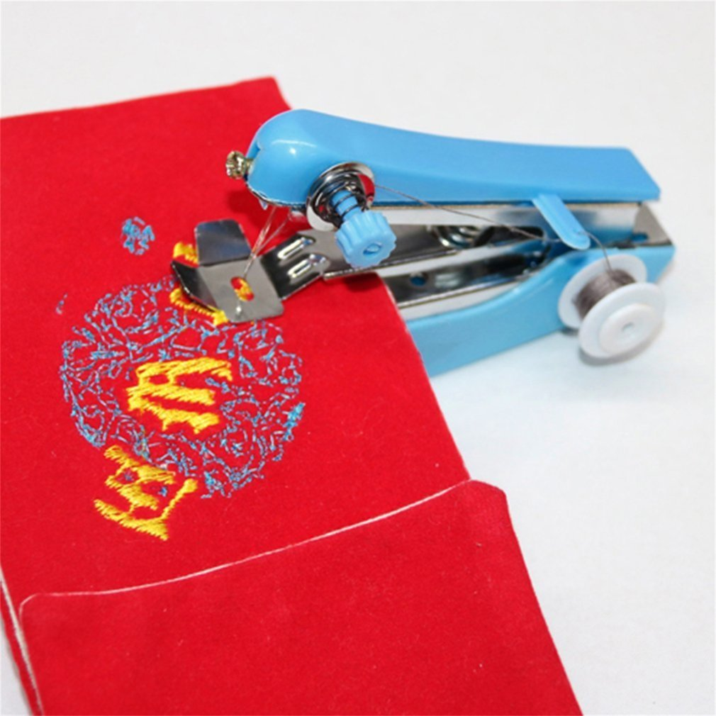 HOME Essential Travel Use Mini Portable DIY Needlework Cordless Hand Sewing Machines Hand-Held Clothing Fabrics