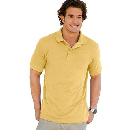 Hanes ComfortSoft Men`s Cotton Pique` Polo - Best-Seller, 055X,