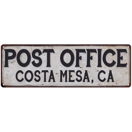 Costa Mesa, Ca Post Office Personalized Metal Sign Vintage 6x18 206180011235 ()