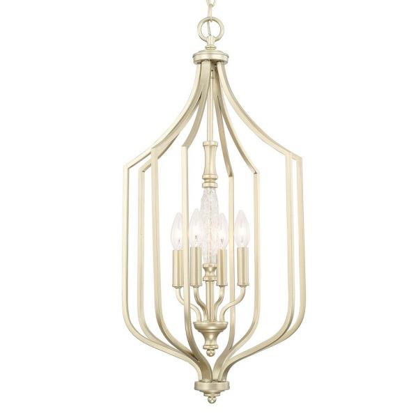 "Capital Lighting Seaton - 14.75"" Four Light Foyer, Soft Gold Finish"